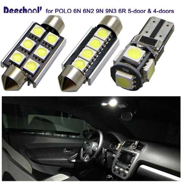 Deechooll 10x Auto LED Lampen voor Volkswagen POLO, auto Interieur ...