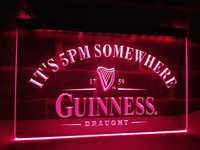 LA091- Guinness It's 5 pm Somewhere Bar   LED Neon Light Sign     home decor  crafts