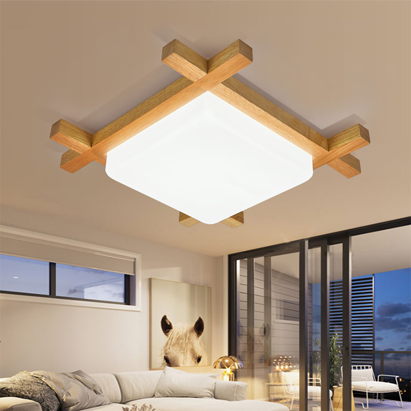Modern brief Japanese bedroom quare wood LED ceiling lamp home deco dining room acrylic ceiling light fixture modern japanese tatami wood octagon led ceiling lamp bried chinese home deco living room acrylic yurts ceiling light fixture