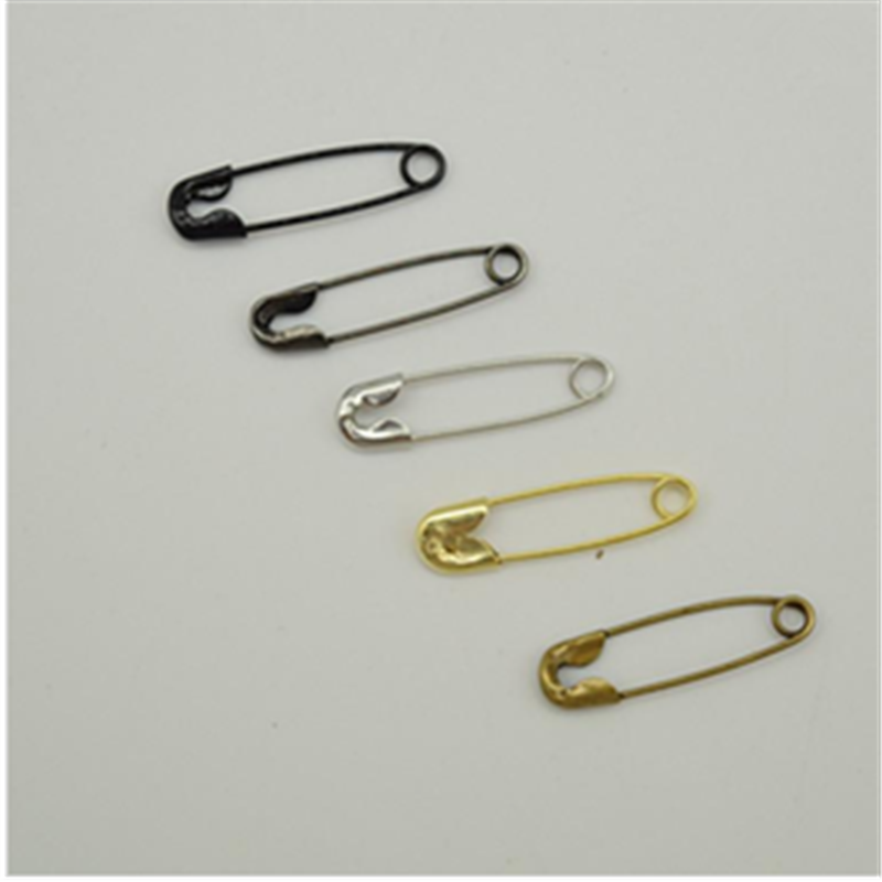 2000 Pcs High Quality Gold Silver Bronze Black Brass Safety Pins for Garment Tags Pins length (18mm)