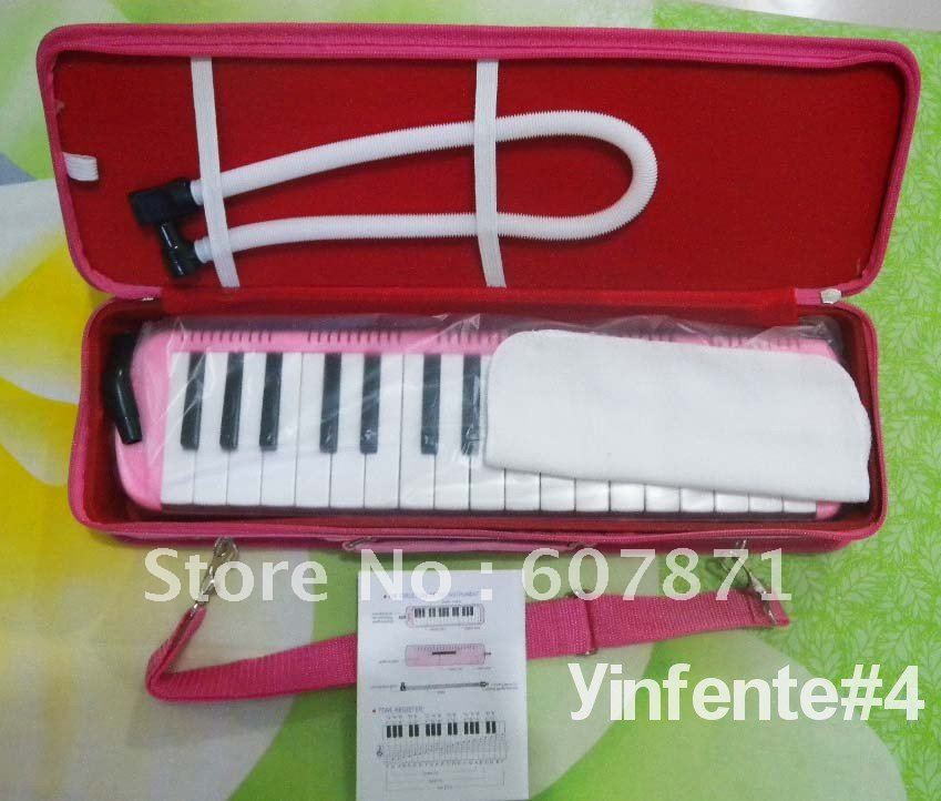 New ~ 32KEY MELODICA Fine Case Nice Tone~ pink new swan 32key melodica fine case nice tone yellow