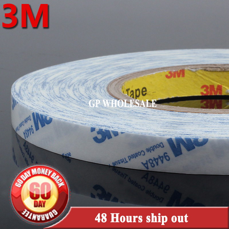 1x 300mm*50M 30cm Original 3M 9448 9448A 3M9448 White double Sided Stircky Tape for Nameplate, Plastic Film Bond 200mm 50m 20cm wide 3m strong double sided coated adhesive white tape for nameplate rubber foam plastic surface bond