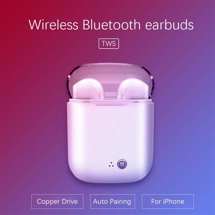 AIPAL TWS Wireless Bluetooth Earphones earbuds and charging box with micophone earphone for iphone android
