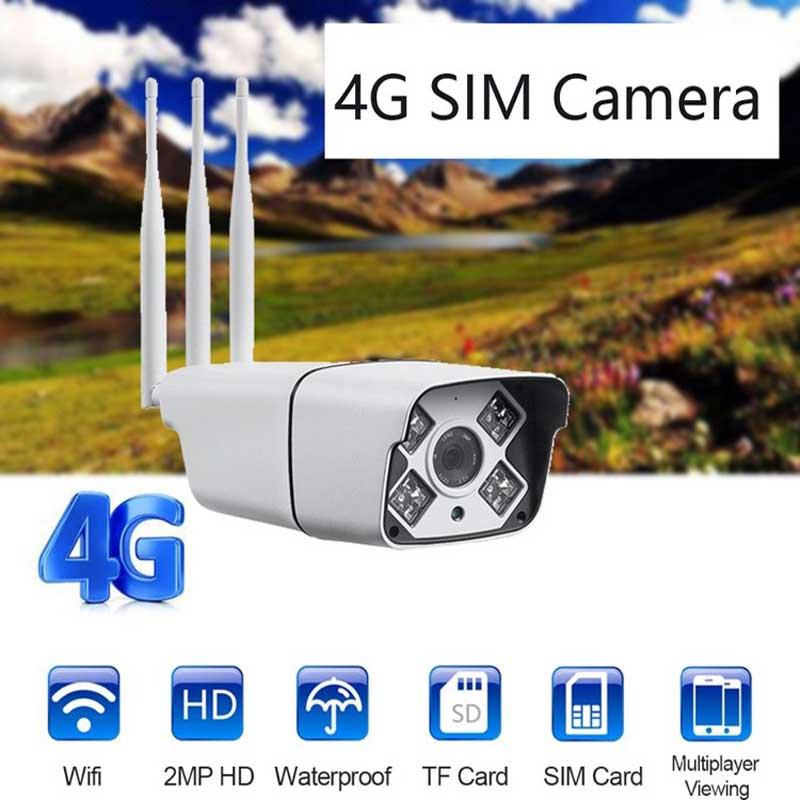 4G IP Camera 2.0MP Waterproof Outdoor Security CCTV Camera WIFI Video Surveillance System 50M Night Vision Mobile Remote View