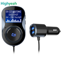 Bluetooth Car charger Hands free FM Modulator Car MP3 Player Audio Adaptor FM Transmitter Support U Disk TF for iPhone Android