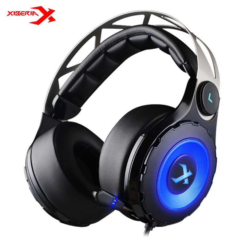 XIBERIA T18 Stereo Gaming Headphones with Microphone 7.1 Surround Sound Deep Bass Gamer Headset for Computer Gamer fone de ouvid