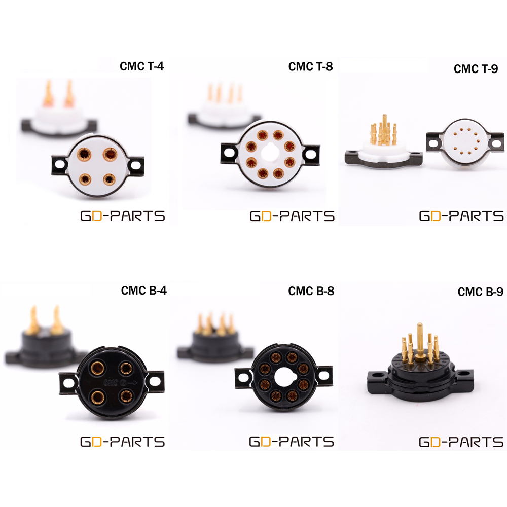 Cmc Teflon Bakelite Octal Vacuum Tube Sockets Bases 4pin 8pin 9pin Amplifier With El34 Ecc83 Ecc82 Circuit Schematic Explanation