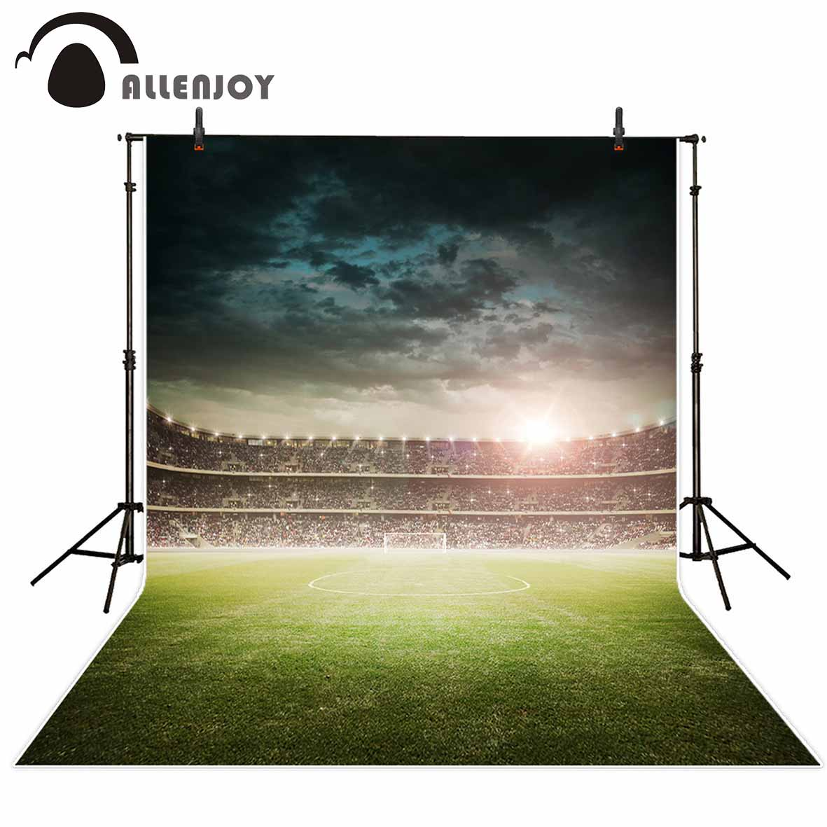 Allenjoy photography backdrop Classic black stadium competition football background newborn original design for photo studio