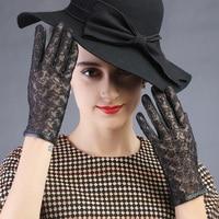 2015 nouveau design dame miss automne cadeau partie Time show femmes chaud dentelle assorti en cuir spectacle d'opéra effectuer des gants mitaines