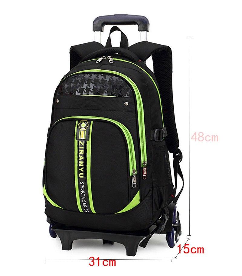 36ccc16338 Ultime rimovibile per bambini borse da scuola con 3 ruote scale capretti  delle ragazze dei ragazzi trolley zainetto bagagli borse libro wheeled  backpack in ...