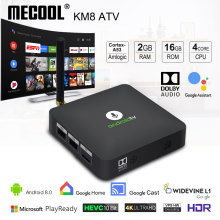 MECOOL Android tv KM8 ATV Google Voice Control Smart TV Andr