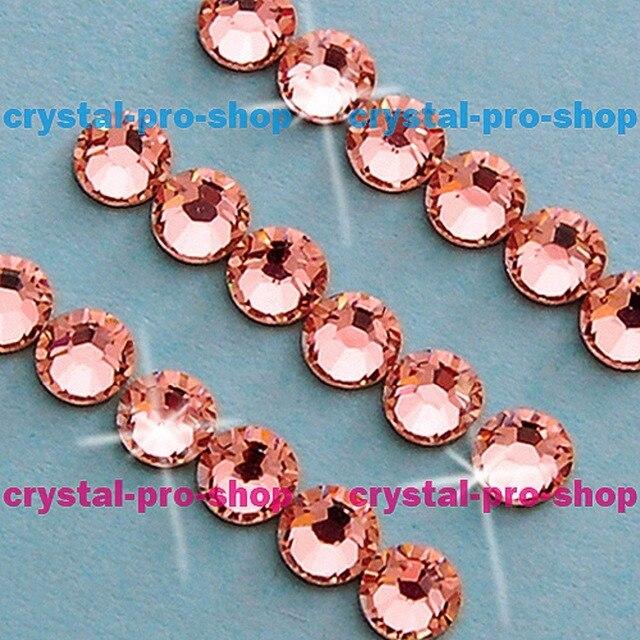 Swarovski Elements Rose Peach (262) ( No Hotfix   Hotfix ) Iron On ... 666726c6a543