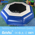 W024 Envío Libre de DHL 0.6mm-0.9mm pvc Inflable Agua Trampolín/Trampolín de Salto Inflable Del Agua/Agua cama de salto
