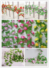 20PCS Peones rattan artificial rose peony flower vine silk flower for wedding home decoration flower(China)