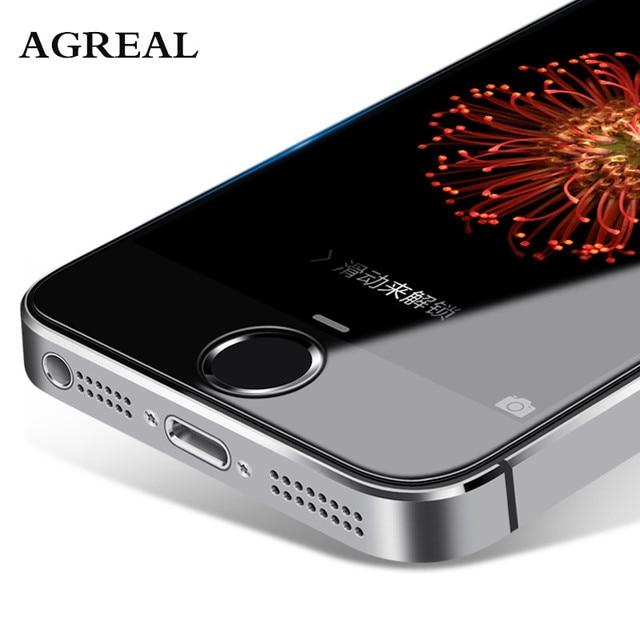 9 H 2.5D 0.26 мм для iPhone 5 5S 5C Премиум закаленное Стекло Экран протектор agreal Закаленное Защитная пленка для Iphone 5S se