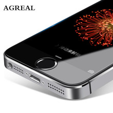 9H 2.5d 0.26 mm For iPhone 5 5s 5c Premium Tempered Glass Screen Protector AGREAL Toughened protective film for iPhone 5s SE