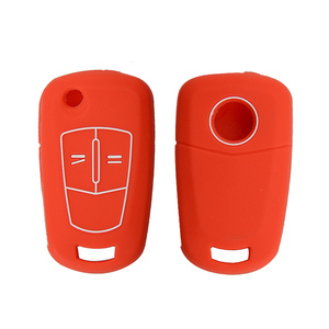 Image 5 - OkeyTech Good Quality Silicone Car Key Cover Case For Opel Vectra C Astra H Corsa D Zafira 2 Buttons Flip Folding Remote Key