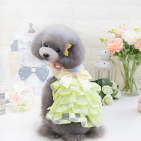 Dog Skirt Wedding Princess Dogs Dress For Dogs Puppy Cats Cute Bow Summer Chihuahua Clothes Dot
