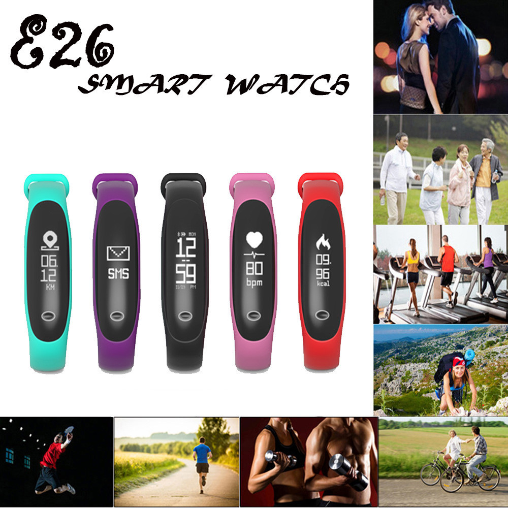 Bracelet Wristband Heart-Rate-Band-Monitor Bluetooth Android Waterproof Smart E26