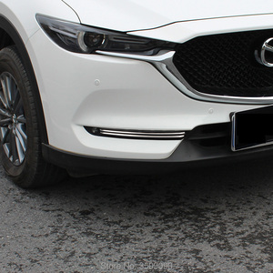 Image 5 - 2017 2020 マツダ CX 5 CX5 kf 車のフロント鋼トリムステッカーストリップガーニッシュ装飾クロームスタイリング 4 ピース/セット