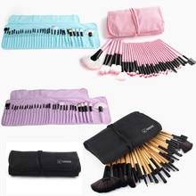 VANDER 32pc Makeup Brushes Set Pro Cosmetic Brush Eyebrow Foundation Shadows Eyeliner Lip Kabuki Make Up Tools Kits & Pouch Bag