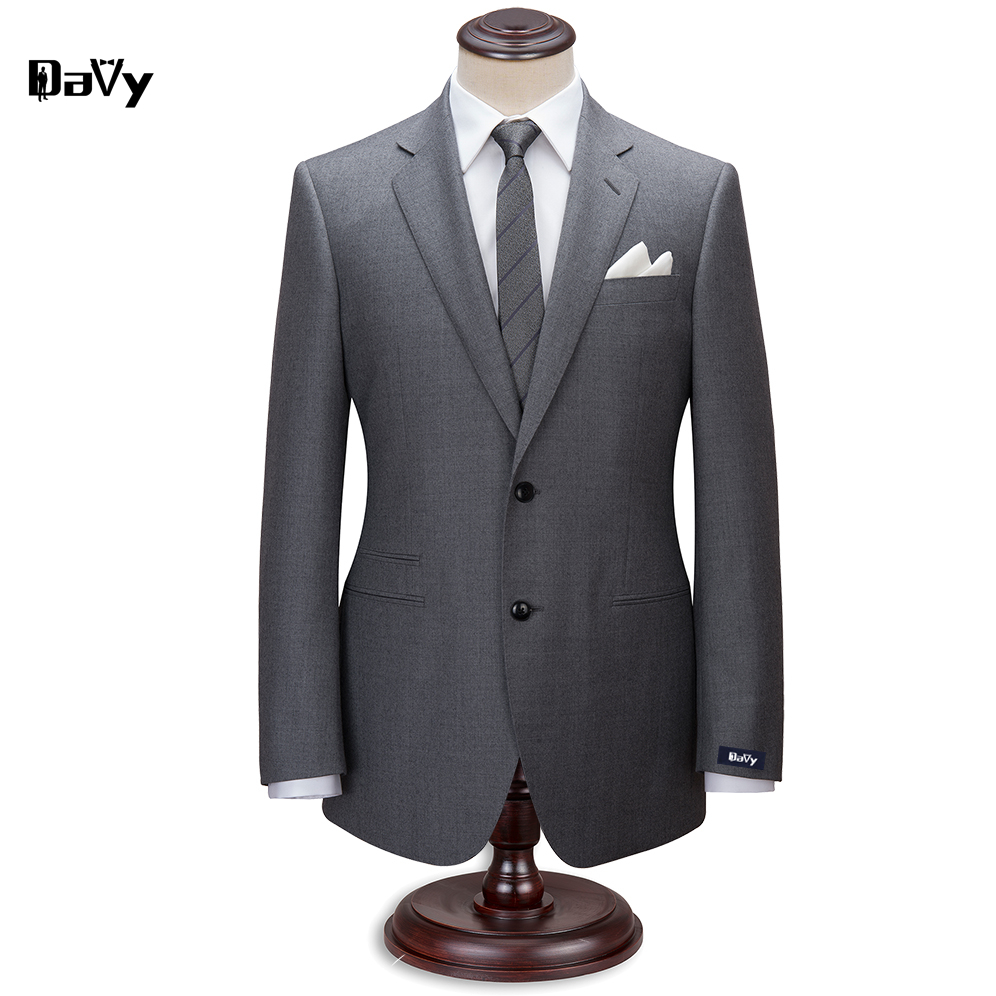 Custom made suit Tailor Made grey wool wedding suits for men slim classical men wedding customized