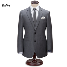 Custom made suit Tailor Made grey wool wedding suits for men slim classical men wendding customized letters suit for men