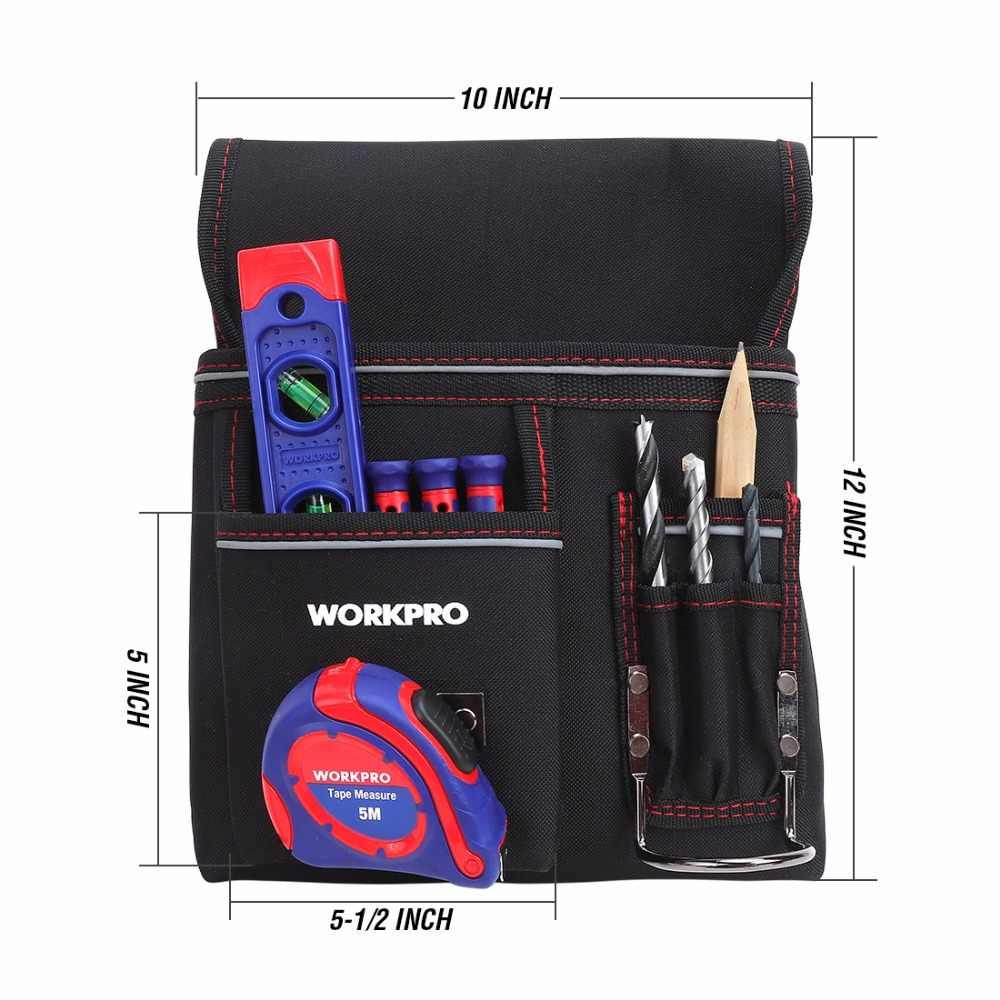 WORKPRO belt bag Multifunction Belt Tool Pouch Electrician Waist Tool Bag Tool Holder Convenient Work Organizer