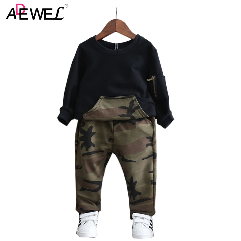2 3 4 5 6 7 Year Boys Clothes 2018 New Camouflage Style Long Sleeve Kids Sport Suits Spring Autumn Casual Children Clothing Set children s clothing 2017 spring camouflage set teenage boys clothes child spring