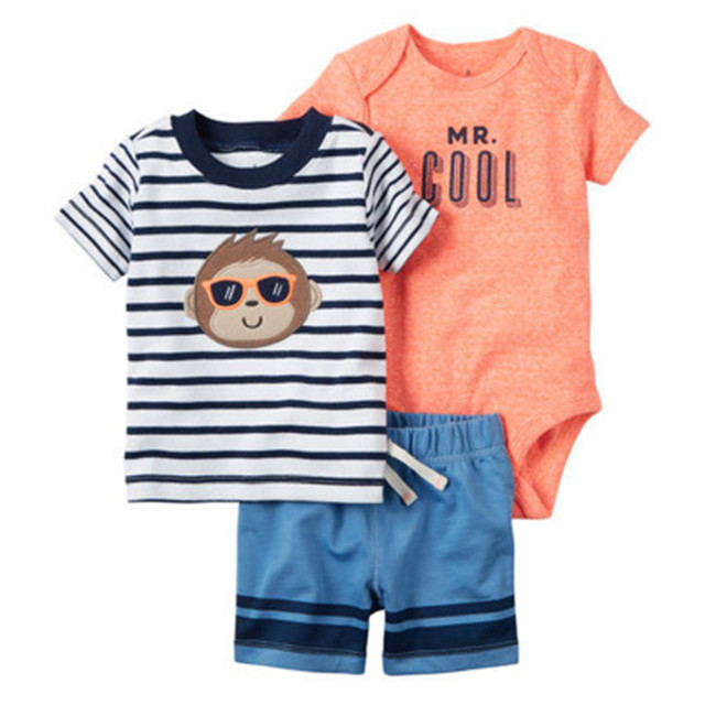 e7983ad11 Envío libre Carter bebés niños Bebés Ropa del verano (camiseta + Body de  manga corta