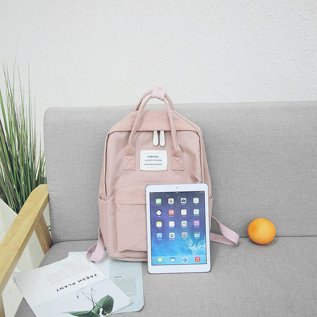 Women Hot Canvas Backpacks Candy Color Waterproof  School Bags for Teenagers Girls Laptop Backpacks Patchwork Backpack New 2019 2