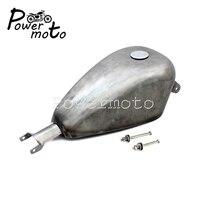 Replica 2.4 Gallons Gas Tank Raw Steel EFI Fuel Oil Tank 61405 07 for Harley Sportster XL883 XL1200 XL48 XL72 XL 883 1200 07 17