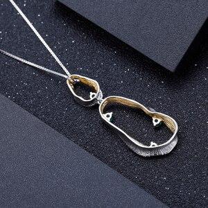 Image 3 - GEMS balet Handmade Twist naszyjnik 925 srebro Fine Jewelry naturalny zielony agat kamienie szlachetne dla kobiet ślub