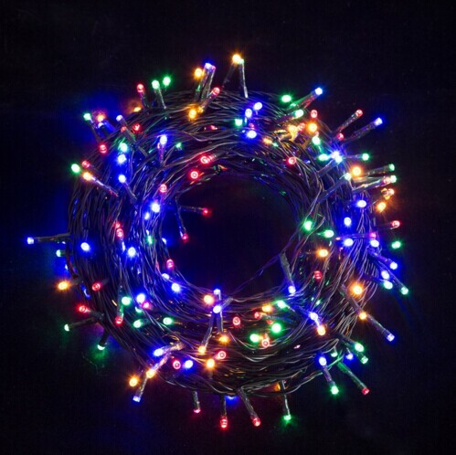 low voltage dc24v outdoor waterproof led christmas fairy string lights 100m 500led for holiday decorations 4 color free shipping in led string from lights