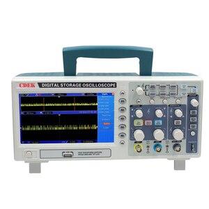 Image 2 - CDEK DSO1102P הדיגיטלי אוסצילוסקופ נייד 100 MHz 2 ערוצים 1GSa/s שיא אורך 40 K USB LCD אוסצילוסקופ להשוות DSO5102P