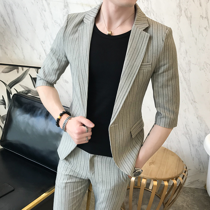 Costume Hôte Beau tops Hommes Personnalité Coréen Petit De Marée Loisirs Unique Nouveau Pantalon Jeunes x88q4vHX
