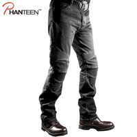 Man High Quality Motorcycle Jeans Sports Racing Riding Protective Elastic Motocross Pants Pantalon Moto Men Comfortable