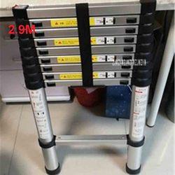 2.9 metri DLT-A Portatile di Sicurezza Scaletta di Estensione di Spessore In Lega di Alluminio Single-sided Scaletta Dritta Per Uso Domestico 10 Passi Ladder