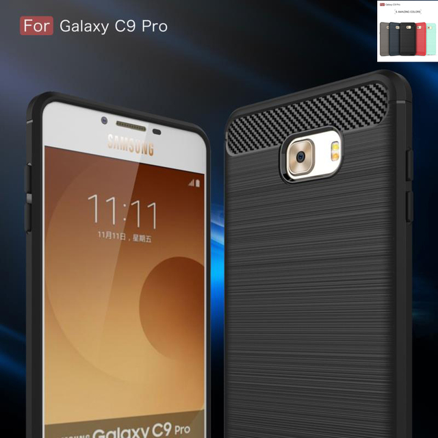 """6.0""""For Samsung Galaxy c9 pro Case Shockproof Armor Tough Silicone Rubber Dissipate Heat Case For Samsung Galaxy c9 pro SM-C9000"""