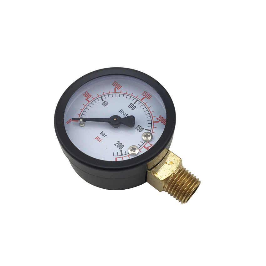 High Pressure Replacement Gauge, 0 - 3000 PSI, Home brewing Co2 Pressure Regulator Gauge (2)
