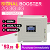 2G 3G 4G GSM 900 WCDMA 2100 LTE 1800 Tri Band Mobile Phone Signal Booster 65dB