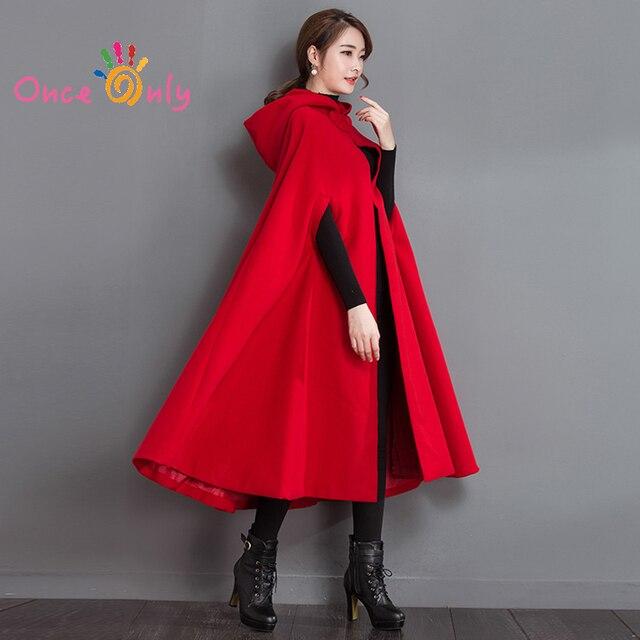 Roter mantel damen kapuze