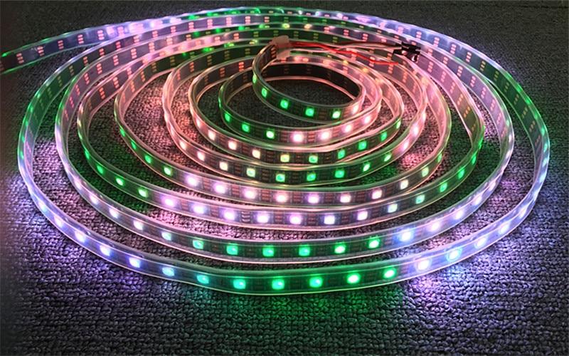HTB1KuJ3lAfb uJjSsrbq6z6bVXaN DC5V WS2812B 30/60/144 leds/m Smartled pixel RGB individually addressable led strip light Black/White PCB IC WS2812 pixel strips
