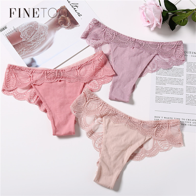 Sexy Plus Size Panty Low Rise Briefs For Women Sexy Female Lace Comfort G-String Cotton Underwear XL Panties Underpants 7 Colors
