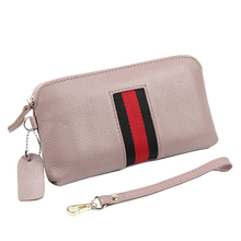 KEYTREND New Fashion Women Genuine Leather Clutches Female Wallets Purse Handbags Zipper Solid Card Holders Coin Pockets KSB266