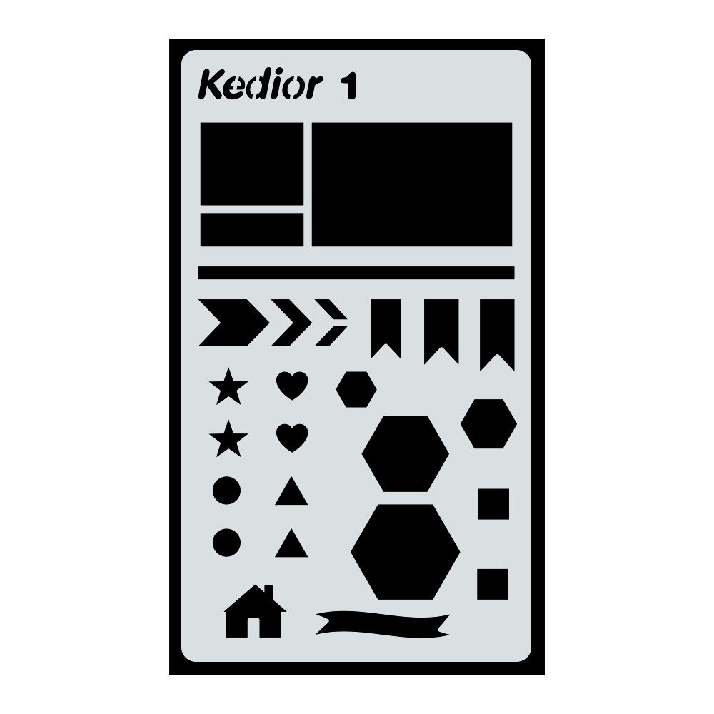 Bullet Journal Supplies,1 Piece Plastic Planner Stencil DIY Drawing Art Supplies for Journal,Notebook,Diary,Scrapbook #1