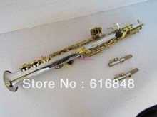 New Professional Straight Pipe Soprano Saxophone B(B) Tune Nickel Plated Gold Key Customizable High Quality Sax Free Shipping