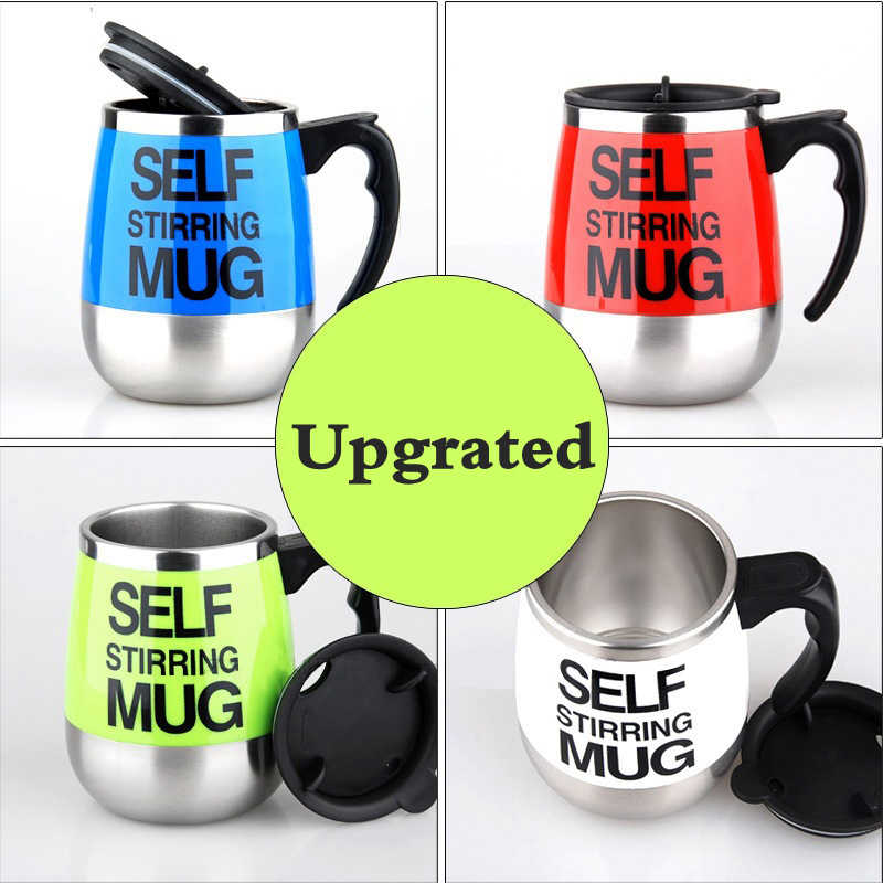 5113fcce42e 450ml Self Stirring Mug Automatic Mixing Mug for Coffee Milk Grain Oat  Stainless Steel Thermal Cup Double Insulated Smart Cup