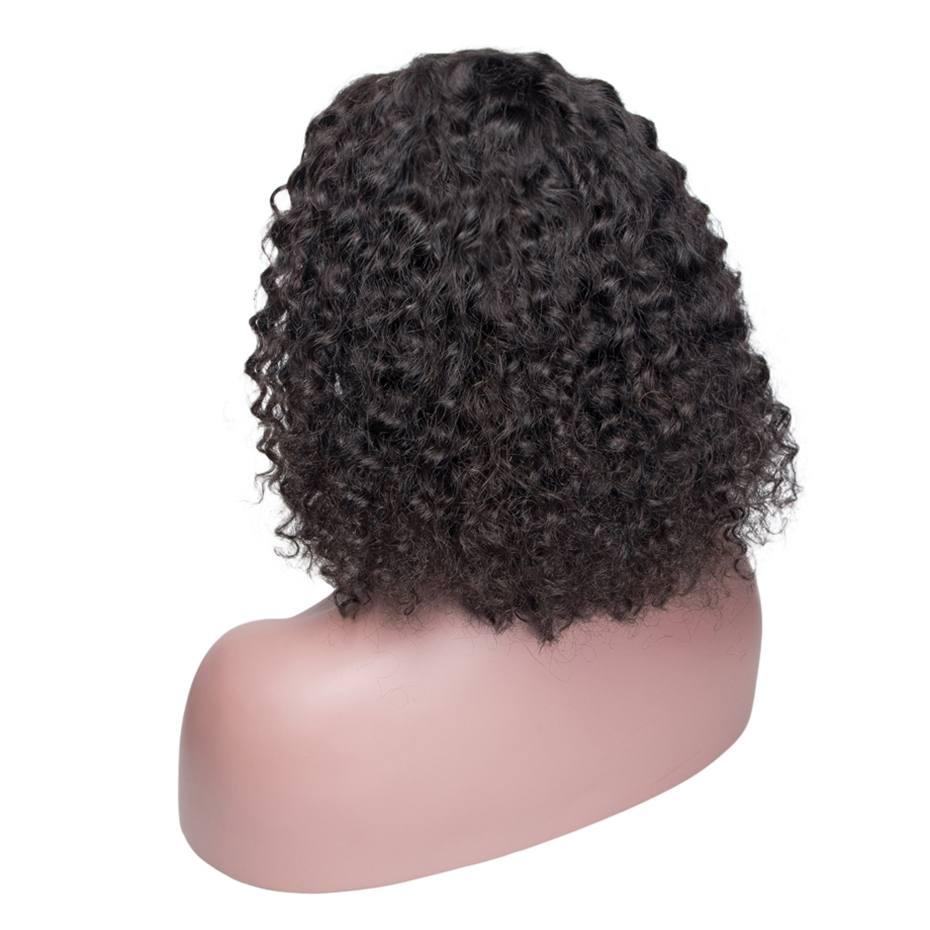 HTB1KuJlaffsK1RjSszbq6AqBXXaN Jerry Curly Lace Front Human Hair Wigs With Baby Hair Brazilian Remy Hair Short Curly Wigs For Women Pre-Plucked Wig