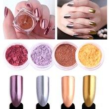 1 Box Nail Glitter Pigment Powder Gold Sliver Purple Champagne Dust Manicure Nail Art Glitter Chrome Powder Decorations цены